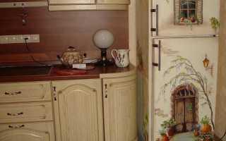 Как сделать декупаж на холодильнике