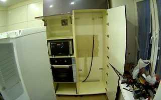 Как встроить старый холодильник в шкаф